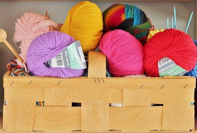 coloured yarns