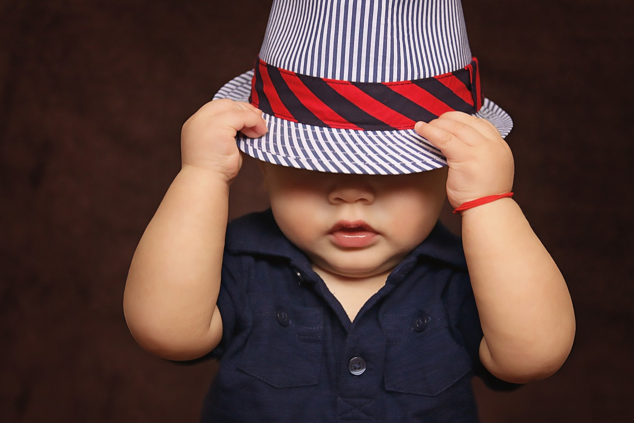 baby with a hat
